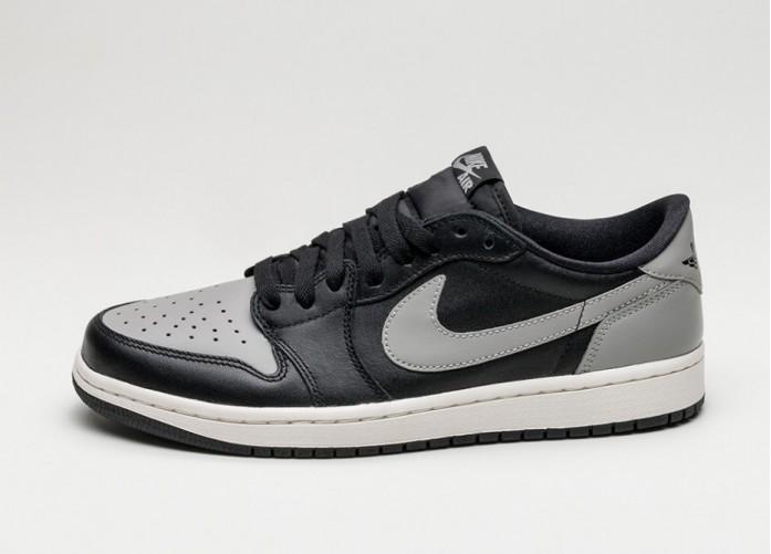 Мужские кроссовки Nike Air Jordan 1 Retro Low OG (Black / Medium Grey - Sail) | Интернет-магазин Sole