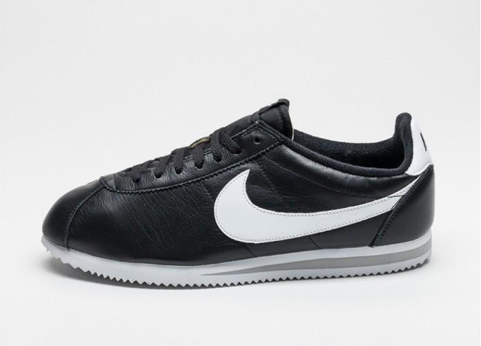Мужские кроссовки Nike Classic Cortez Premium QS (Black / White - Neutral Grey) | Интернет-магазин Sole
