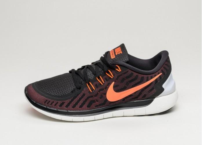 Мужские кроссовки Nike Free 5.0 (Black / Hyper Orange - University Red - White) | Интернет-магазин Sole