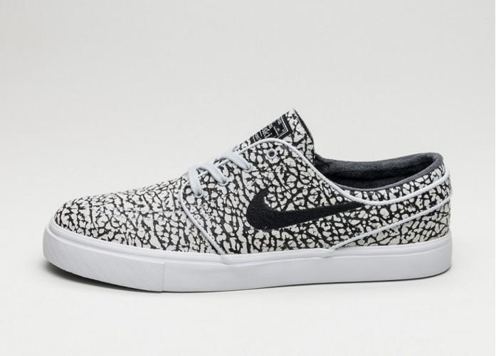 Мужские кроссовки Nike SB Zoom Stefan Janoski Elite (Pure Platinum / Black - White) | Интернет-магазин Sole