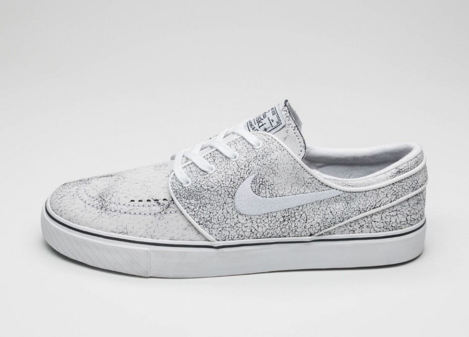 Мужские кроссовки Nike SB Zoom Stefan Janoski Elite (White   White - Black  - Clear ef59dafd1