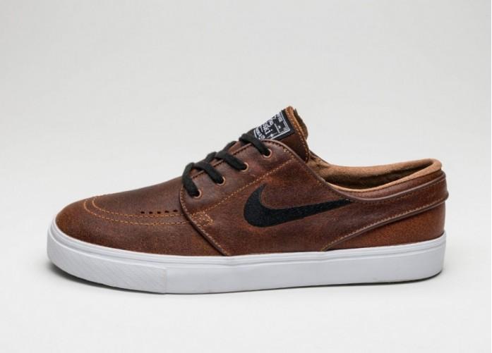 Мужские кроссовки Nike SB Zoom Stefan Janoski Elite (Ale Brown / Black - White - Dark Field Brown) | Интернет-магазин Sole