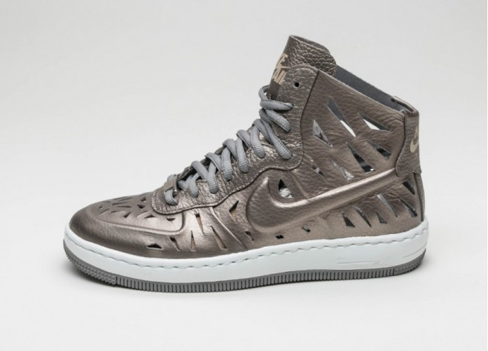 Мужские кроссовки Nike Wmns AF1 Ultra Force Mid Joli (Metallic Pewter / Metallic Pewter - Dust)   Интернет-магазин Sole