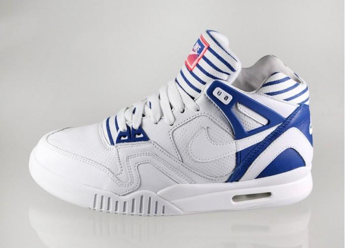 Мужские кроссовки Nike Air Tech Challenge II PA (White / White - Gym Blue - Bright Crimson) | Интернет-магазин Sole