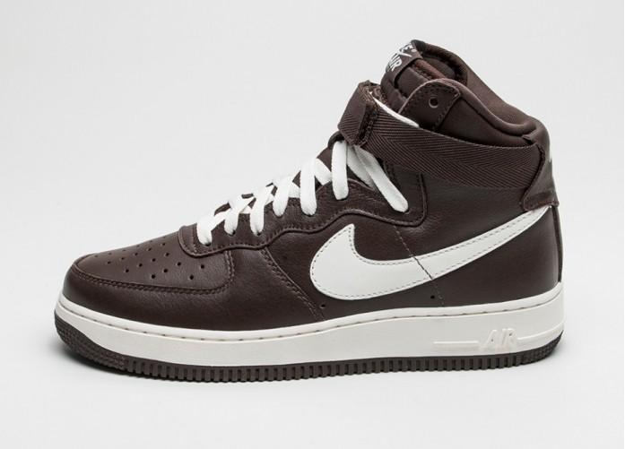 Мужские кроссовки Nike Air Force 1 Hi Retro QS *Chocolate* (Chocolate / Sail) | Интернет-магазин Sole