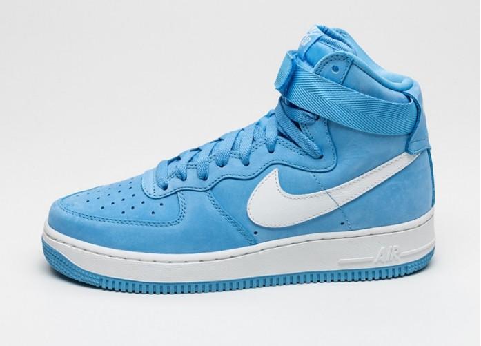 Мужские кроссовки Nike Air Force 1 Hi Retro QS *University Blue* (University Blue / Summit White) | Интернет-магазин Sole