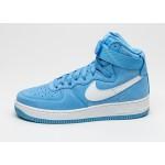 Мужские кроссовки Nike Air Force 1 Hi Retro QS *University Blue* (University Blue / Summit White), фото 1 | Интернет-магазин Sole
