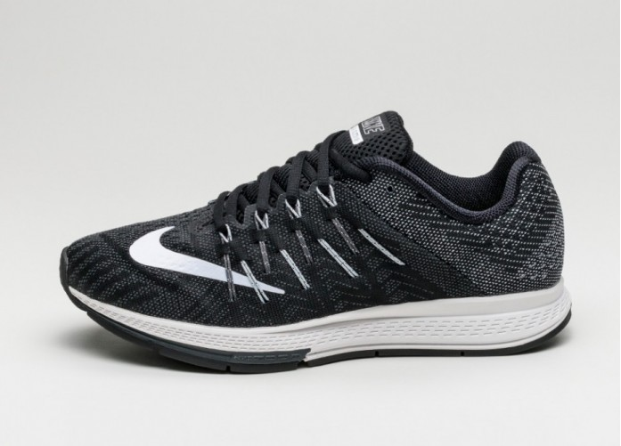 Мужские кроссовки Nike Air Zoom Elite 8 (Black / White - Anthracite - Dark Grey) | Интернет-магазин Sole