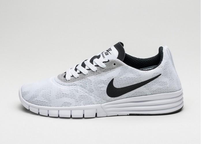 Мужские кроссовки Nike SB Lunar Paul Rodriguez 9 (White / Black - Wolf Grey - Pure platinum) | Интернет-магазин Sole