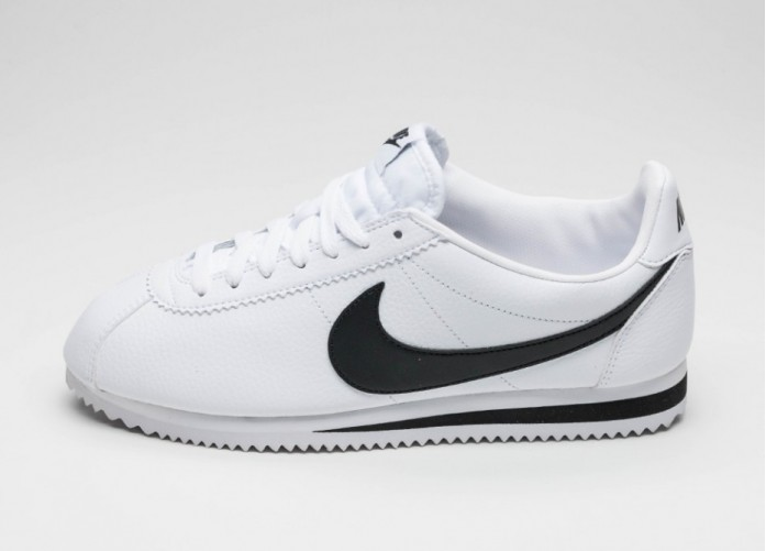 Мужские кроссовки Nike Classic Cortez Leather (White / Black) | Интернет-магазин Sole