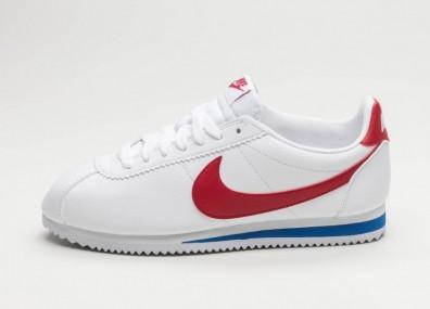Кроссовки Nike Classic Cortez Leather (White / Varsity Red - Varsity Royal)