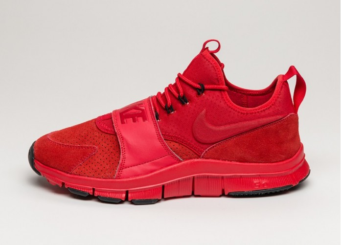 Мужские кроссовки Nike Free Ace Lthr (University Red / University Red - Black) | Интернет-магазин Sole