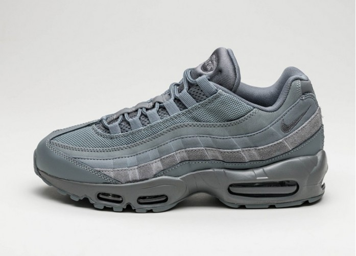 Мужские кроссовки Nike Air Max 95 Essential (Cool Grey / Cool Grey - Cool Grey) | Интернет-магазин Sole