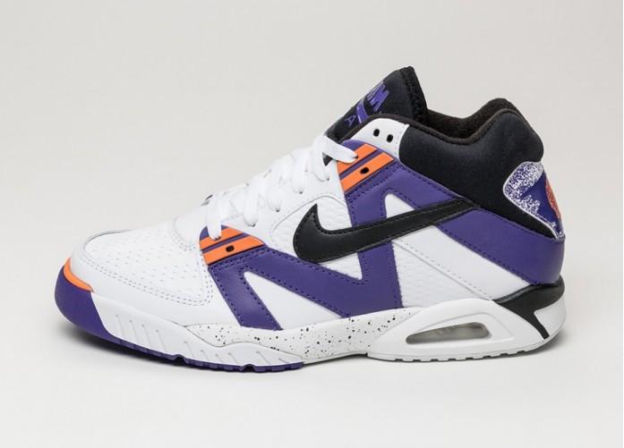 Мужские кроссовки Nike Air Tech Challenge III (White / Black - Vltg Purple - Bright Mandarin) | Интернет-магазин Sole