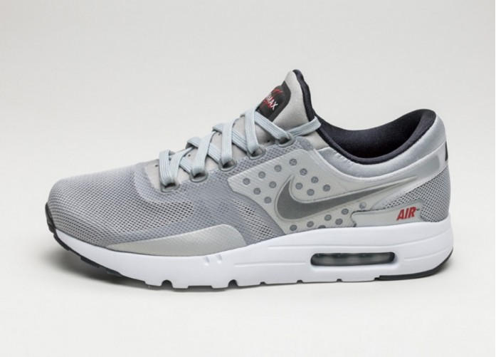 Мужские кроссовки Nike Air Max Zero QS (Metallic Silver / Metallic Silver) | Интернет-магазин Sole