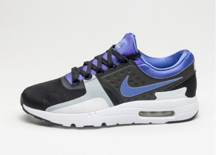 Мужские кроссовки Nike Air Max Zero QS (Black / Persian Violet - White) | Интернет-магазин Sole