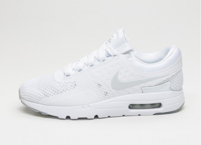 Мужские кроссовки Nike Air Max Zero QS (White / Pure Platinum - Pure Platinum) | Интернет-магазин Sole