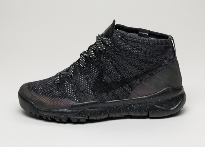 Мужские кроссовки Nike Flyknit Trainer Chukka Sneakerboot (Black / Black - Anthracite) | Интернет-магазин Sole