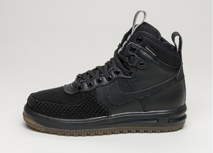 Мужские кроссовки Nike Lunar Force 1 Duckboot (Black / Black - Metallic Silver - Anthracite) | Интернет-магазин Sole