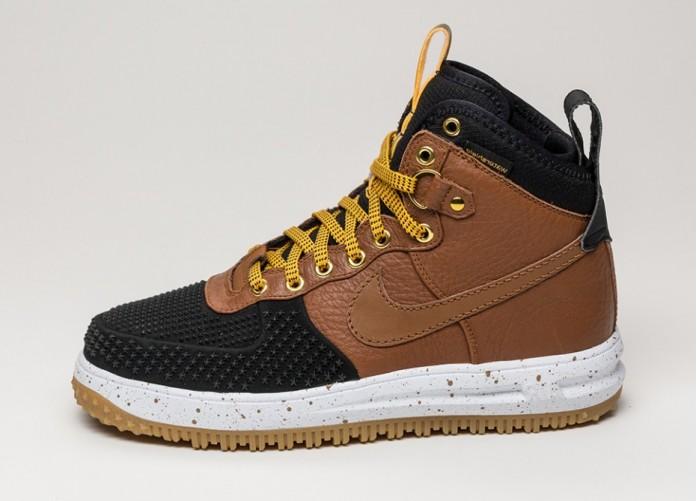 Мужские кроссовки Nike Lunar Force 1 Duckboot (Black / Lite British Tan - Gold Dirt - White) | Интернет-магазин Sole
