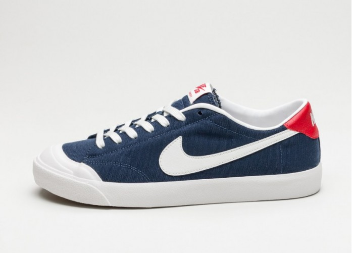 Мужские кроссовки Nike Zoom All Court CK (Midnight Navy / Summit White - Gum Light Brown) | Интернет-магазин Sole