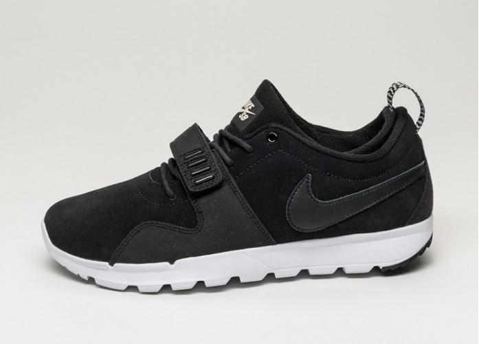 Мужские кроссовки Nike SB Trainerendor L (Black / Black - White) | Интернет-магазин Sole