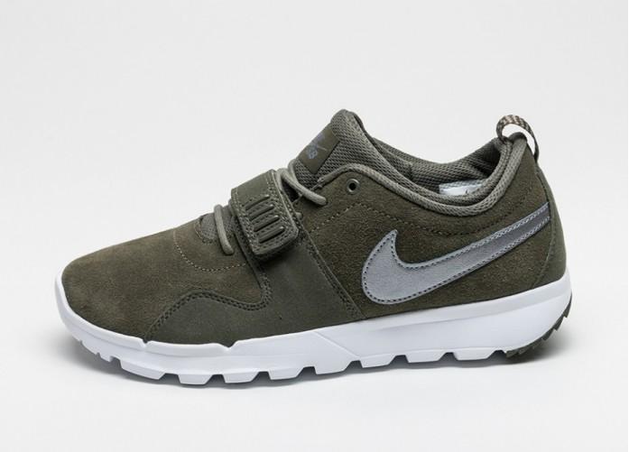 Мужские кроссовки Nike SB Trainerendor L (Cargo Khaki / Metallic Cool Grey - White - White) | Интернет-магазин Sole
