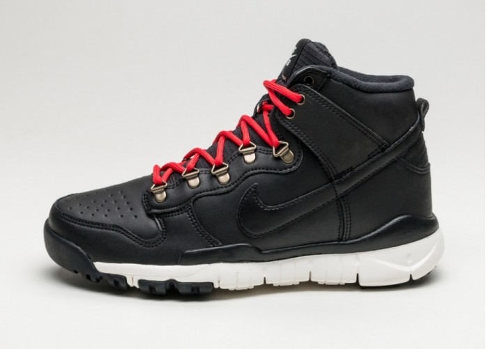 Мужские кроссовки Nike SB Dunk High Boot (Black / Black - Sail - Ale Brown)   Интернет-магазин Sole