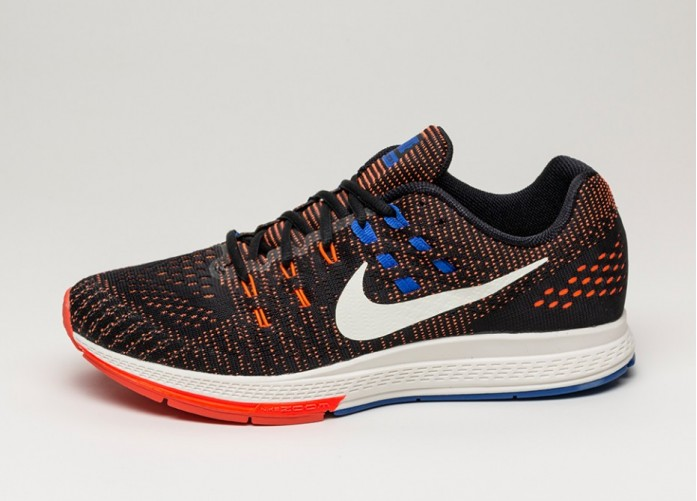 Мужские кроссовки Nike Air Zoom Structure 19 (Black / Sail - Total Crimson - Racer Blue)   Интернет-магазин Sole