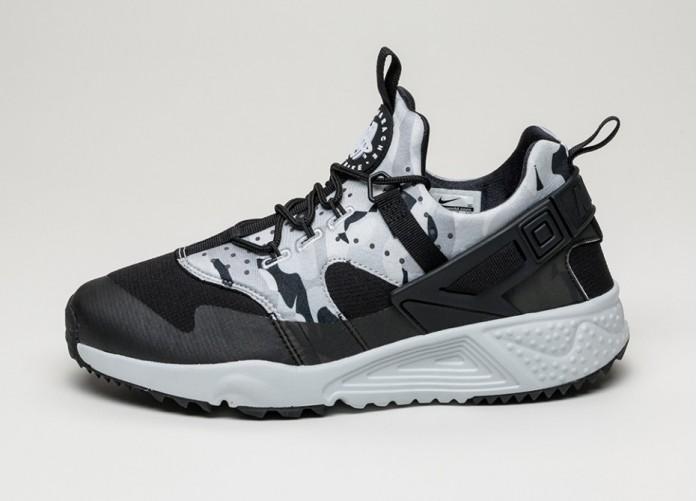 Мужские кроссовки Nike Air Huarache Utility (Pure Platinum / Black - Dark Grey - Wolf Grey) | Интернет-магазин Sole