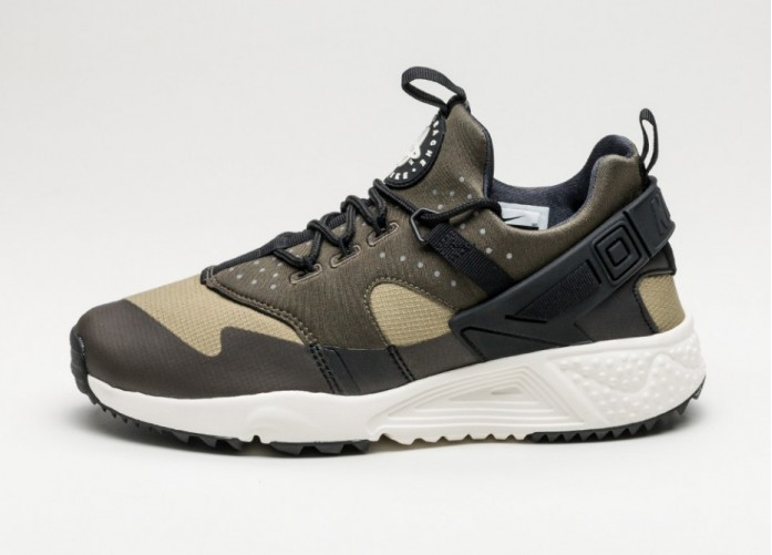 Мужские кроссовки Nike Air Huarache Utility (Trooper / Sail - Cargo Khaki - Black) | Интернет-магазин Sole
