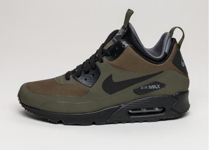 Мужские кроссовки Nike Air Max 90 Mid Wntr (Dark Loden / Black - Dark Grey) | Интернет-магазин Sole