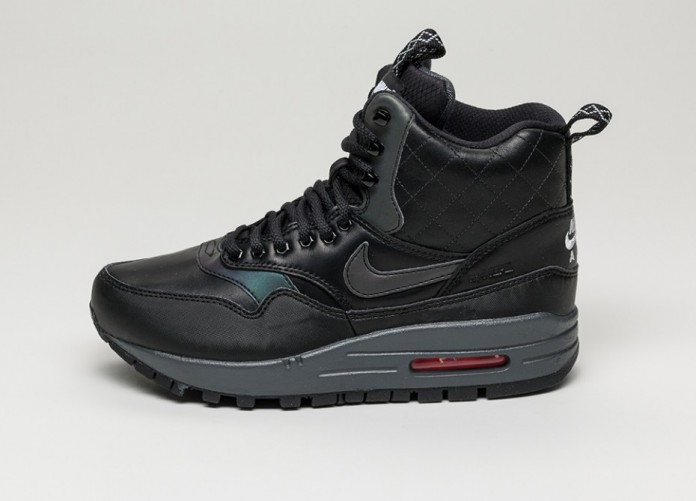 Мужские кроссовки Nike Wmns Air Max 1 Mid Sneakerboot Reflective (Black / Black - Bright Crimson - Menta) | Интернет-магазин Sole