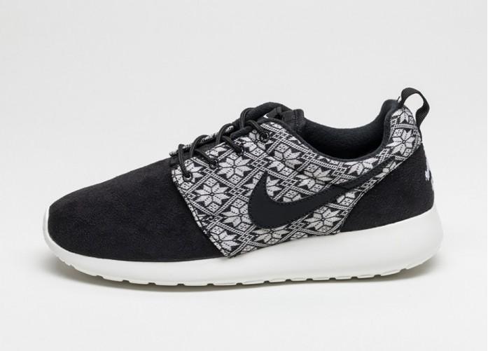 Мужские кроссовки Nike Roshe One Winter (Black / Black - Sail) | Интернет-магазин Sole