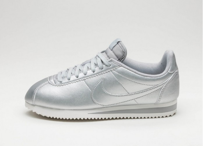 Мужские кроссовки Nike Wmns Classic Cortez Leather (Metallic Silver / Metallic Silver) | Интернет-магазин Sole