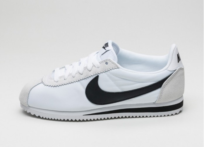 Мужские кроссовки Nike Classic Cortez Nylon (White / Black - Light Bone) | Интернет-магазин Sole