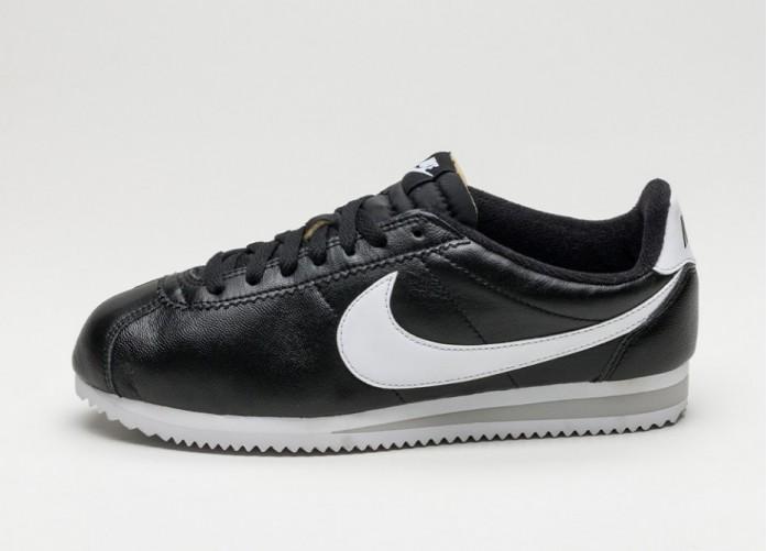 Мужские кроссовки Nike Classic Cortez PRM (Black / White - Neutral Grey) | Интернет-магазин Sole