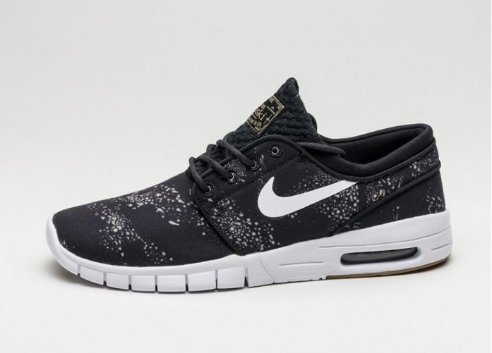Мужские кроссовки Nike SB Stefan Janoski Max PRM (Black / White - Neutral Olive) | Интернет-магазин Sole