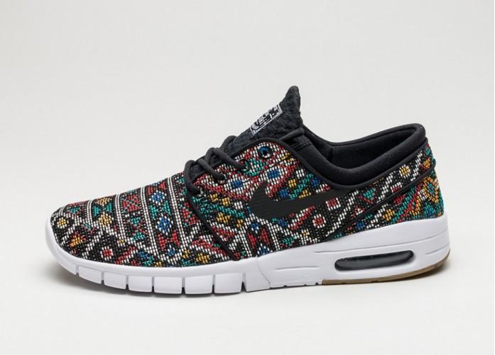 Мужские кроссовки Nike SB Stefan Janoski Max PRM *Seat Cover* (Black / Black - White - Gum Light Brown) | Интернет-магазин Sole
