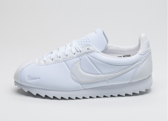 Мужские кроссовки Nike Classic Cortez Shark Low SP (White / White - Black) | Интернет-магазин Sole