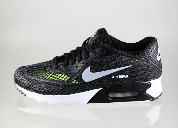 Мужские кроссовки Nike Air Max 90 Ultra BR Plus QS (Black / Wolf Grey - White - Volt) | Интернет-магазин Sole