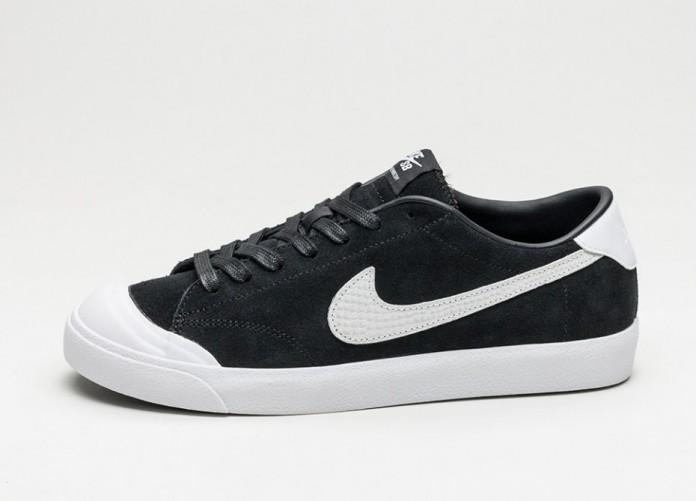 Мужские кроссовки Nike Zoom All Court CK QS (Black / White) | Интернет-магазин Sole