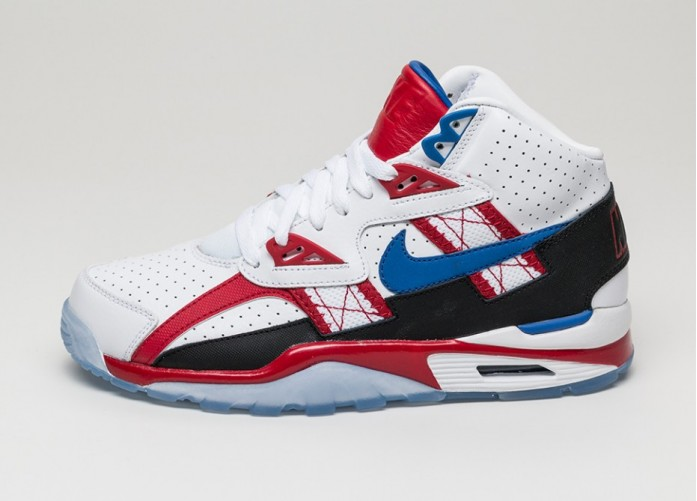 Мужские кроссовки Nike Air Trainer SC High LE QS *Bo Knows Hockey* (White / Game Royal-Gym Red-Black) | Интернет-магазин Sole