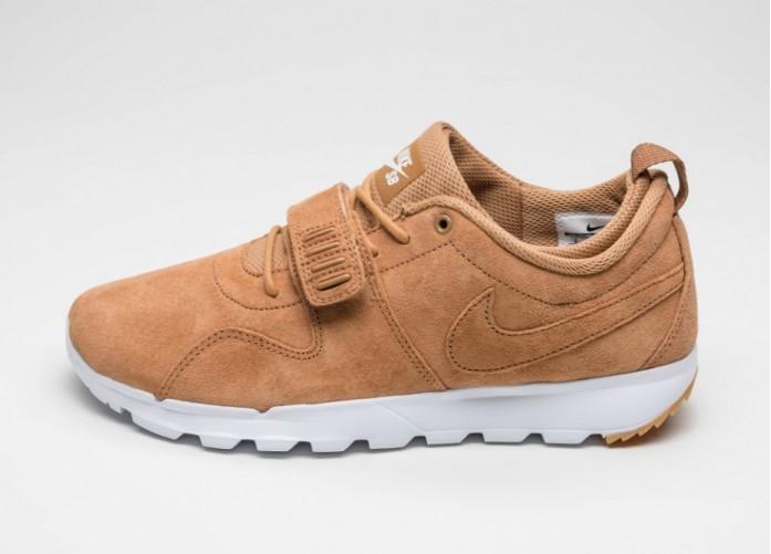 Мужские кроссовки Nike SB Trainerendor PRM (Flax / Flax - White - Gym Light Brown) | Интернет-магазин Sole