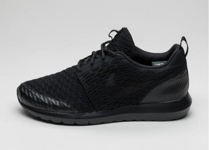 Мужские кроссовки Nike Roshe One NM Flyknit SE (Black / Black) | Интернет-магазин Sole