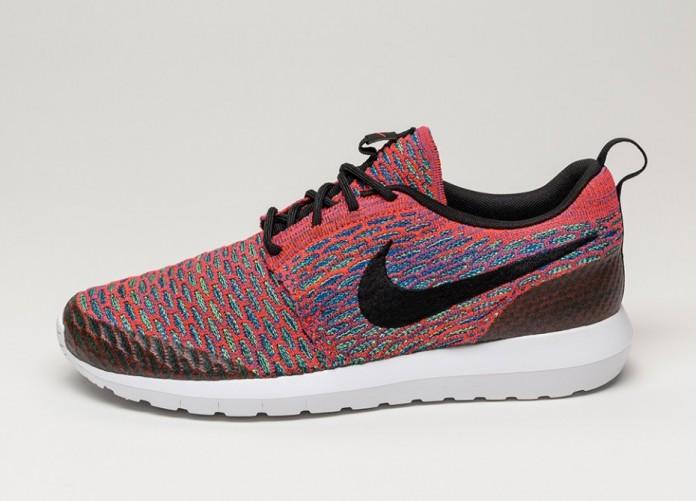 Мужские кроссовки Nike Roshe NM Flyknit SE (Bright Crimson / Black - Green Strike - Gym Royal) | Интернет-магазин Sole