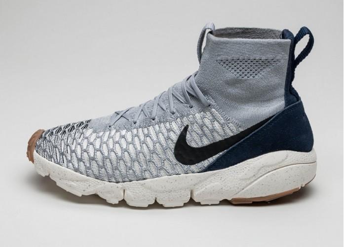 Мужские кроссовки Nike Air Footscape Magista Flyknit (Wolf Grey / Black - Sail - Dark Obsidian)   Интернет-магазин Sole