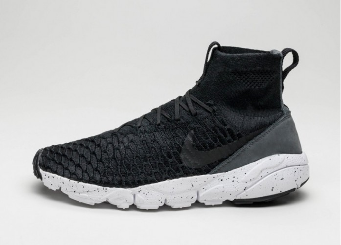 Мужские кроссовки Nike Air Footscape Magista Flyknit (Black / Black - Dark Grey - Volt) | Интернет-магазин Sole