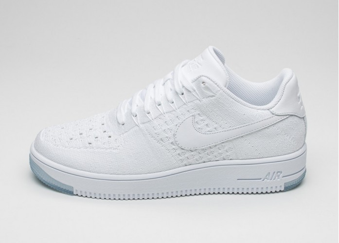 Мужские кроссовки Nike Air Force 1 Ultra Flyknit Low (White / White - Ice) | Интернет-магазин Sole