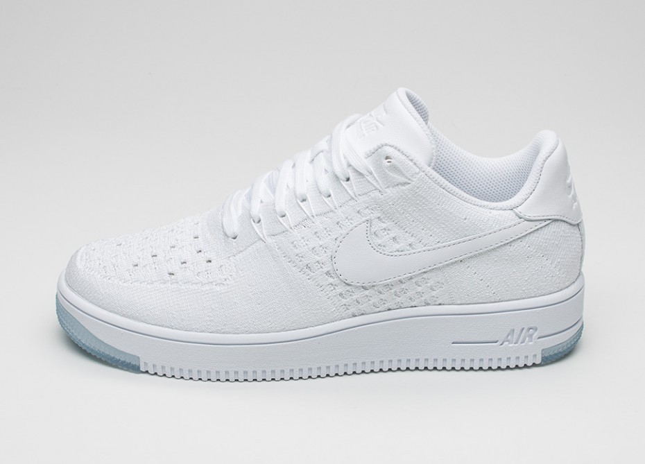 f241efa0 Мужские кроссовки Nike Air Force 1 Ultra Flyknit Low (White / White - Ice)